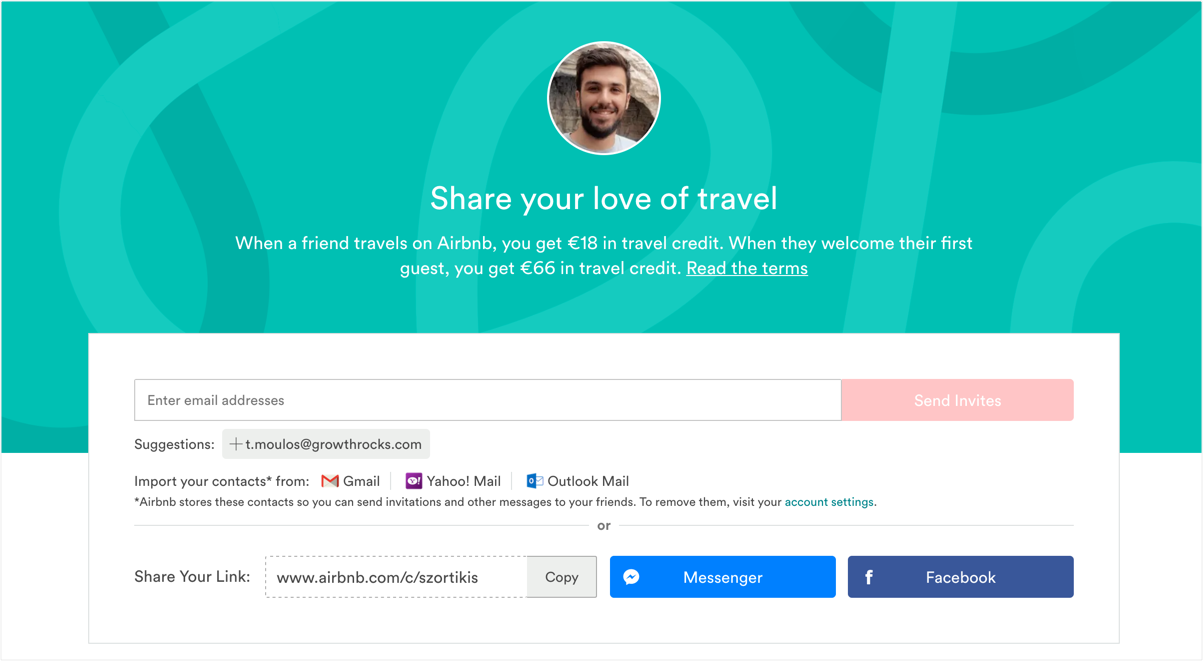 "What are some examples of great UX for ""Invite Friends""?"