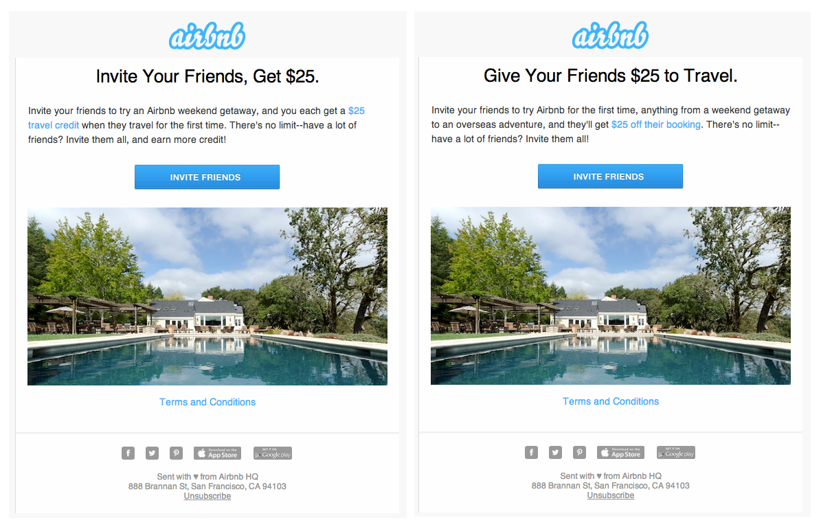 airbnb Referral Viral Loops