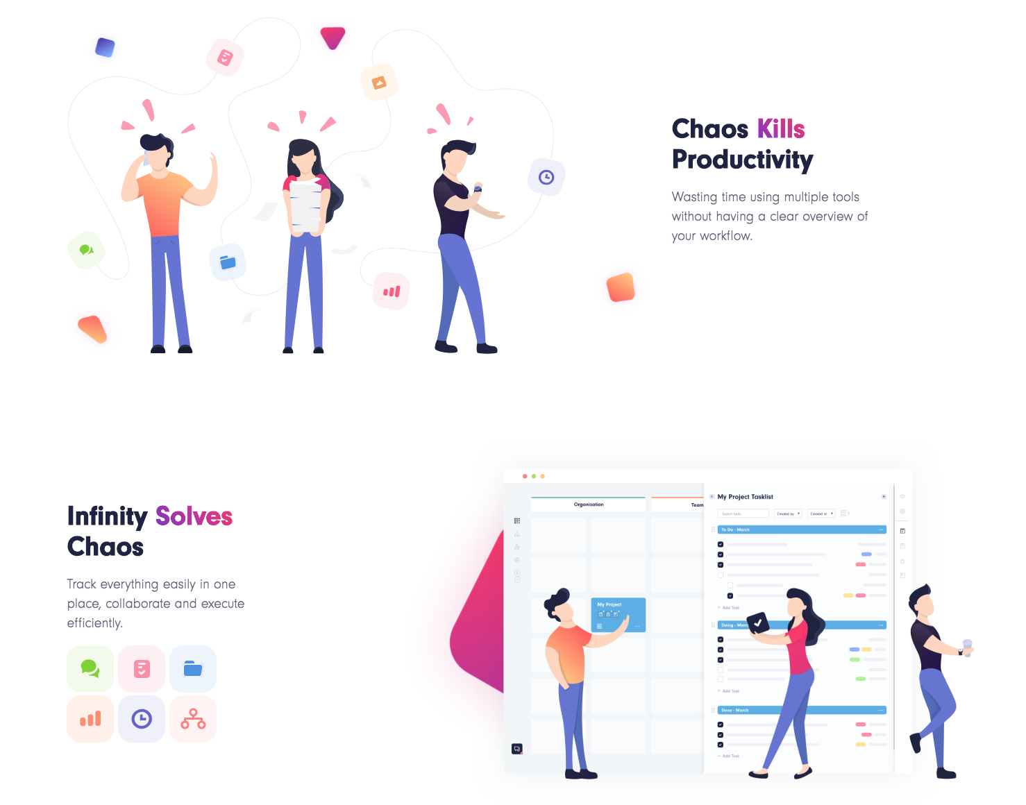 Infinity pre-launch landing page