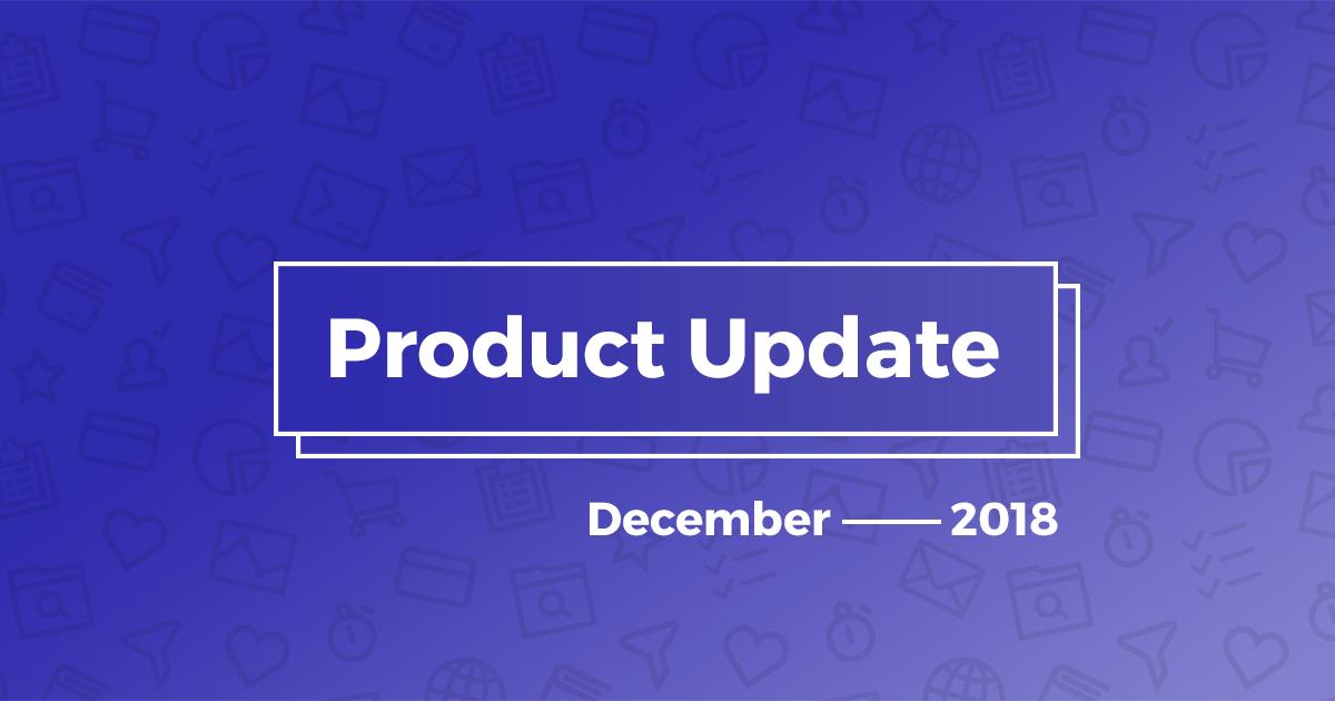 product update decemper 2018