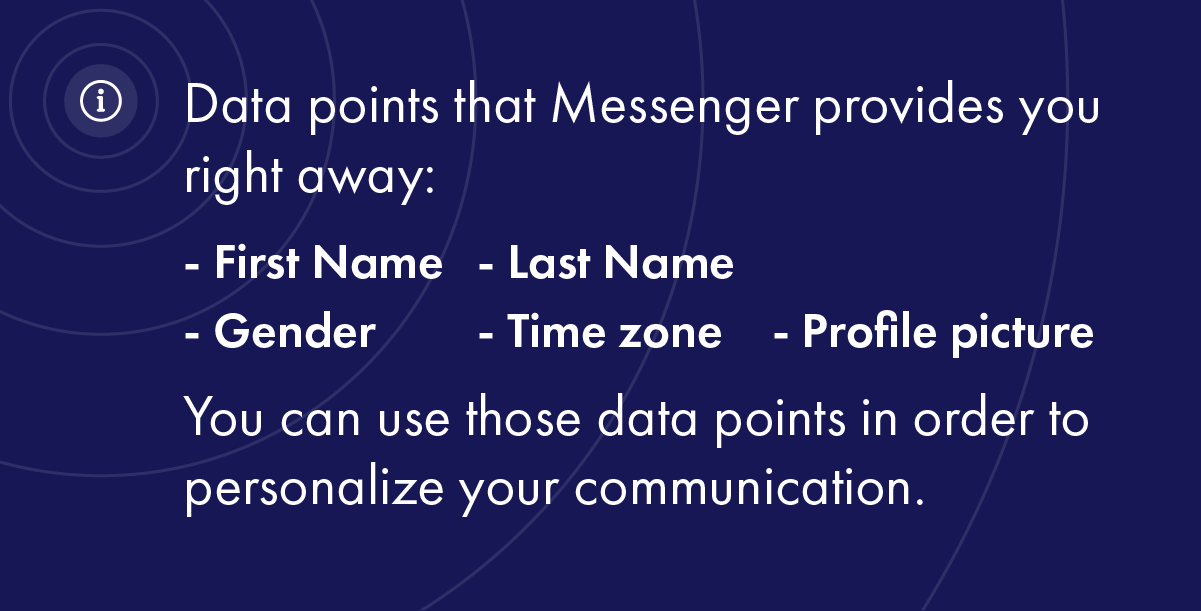 Data points that Messenger provides you right away: