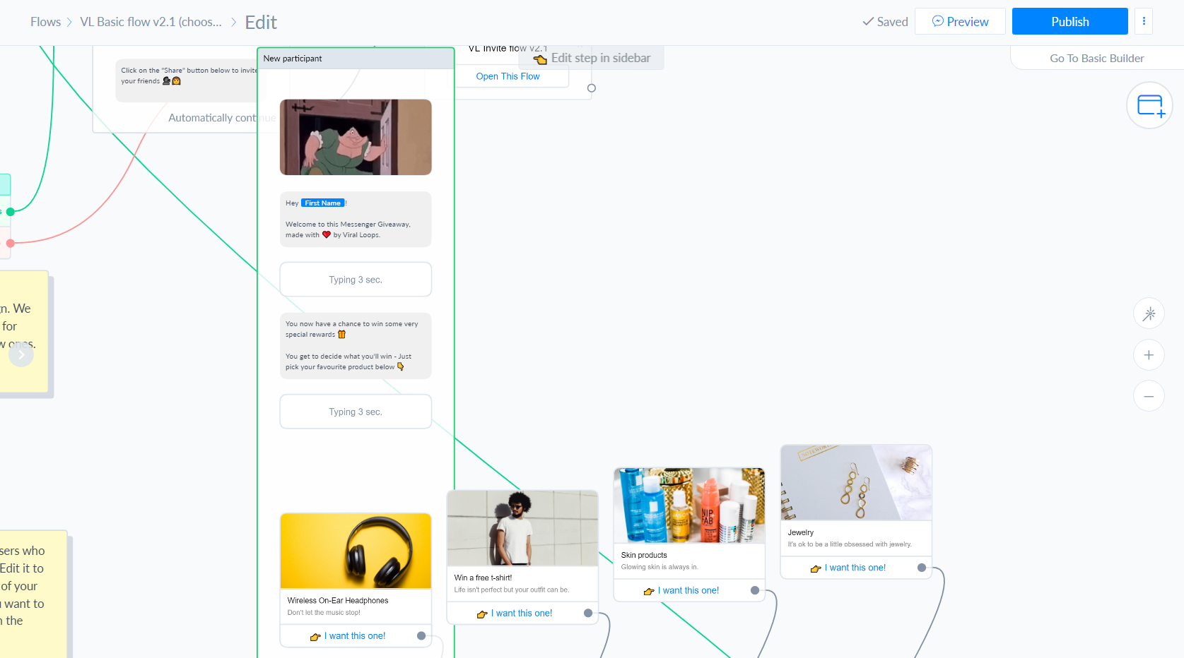 Viral Loops for Messenger eCommerce flow