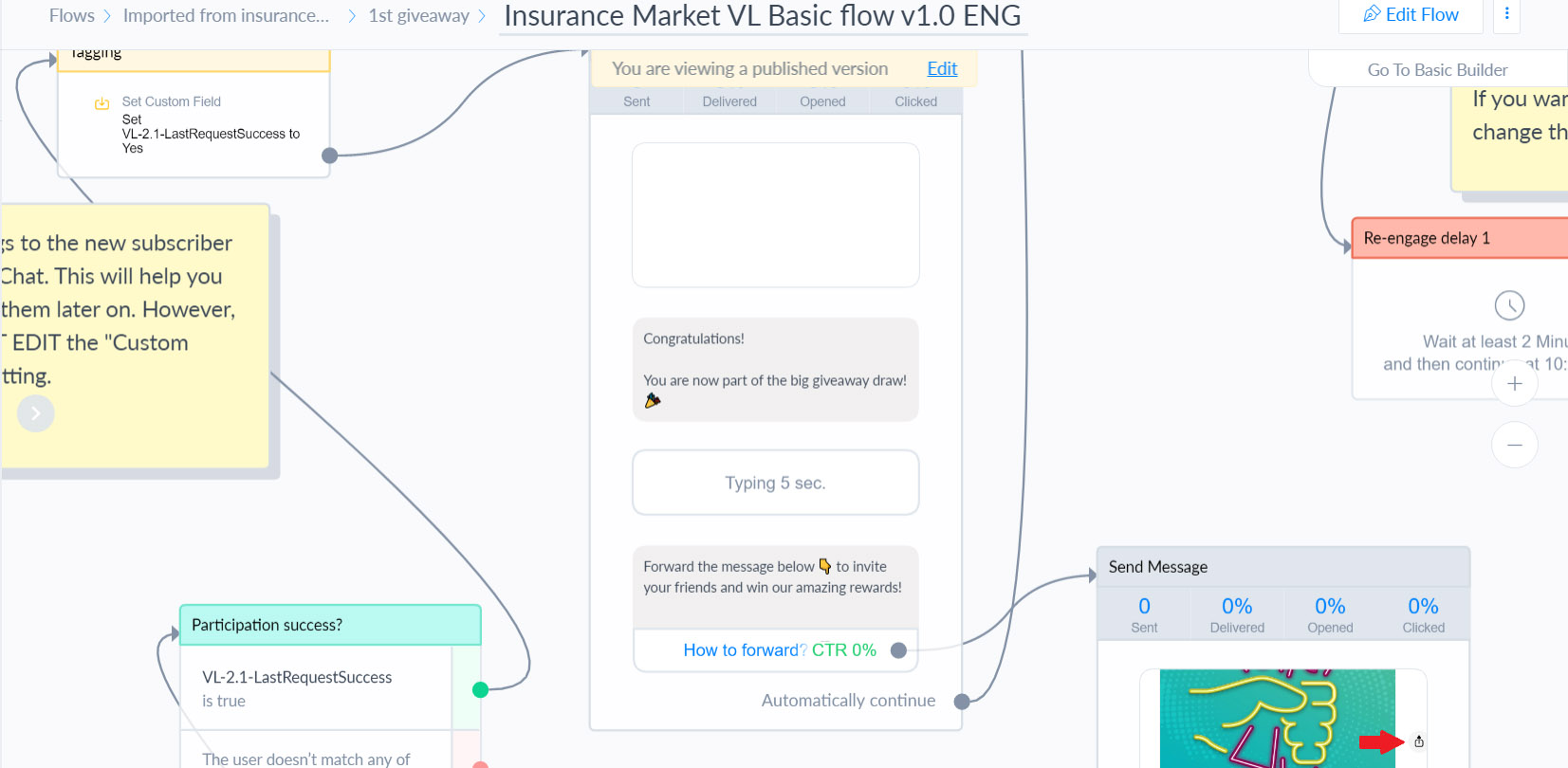 Insurance Market Entry Messenger Flow