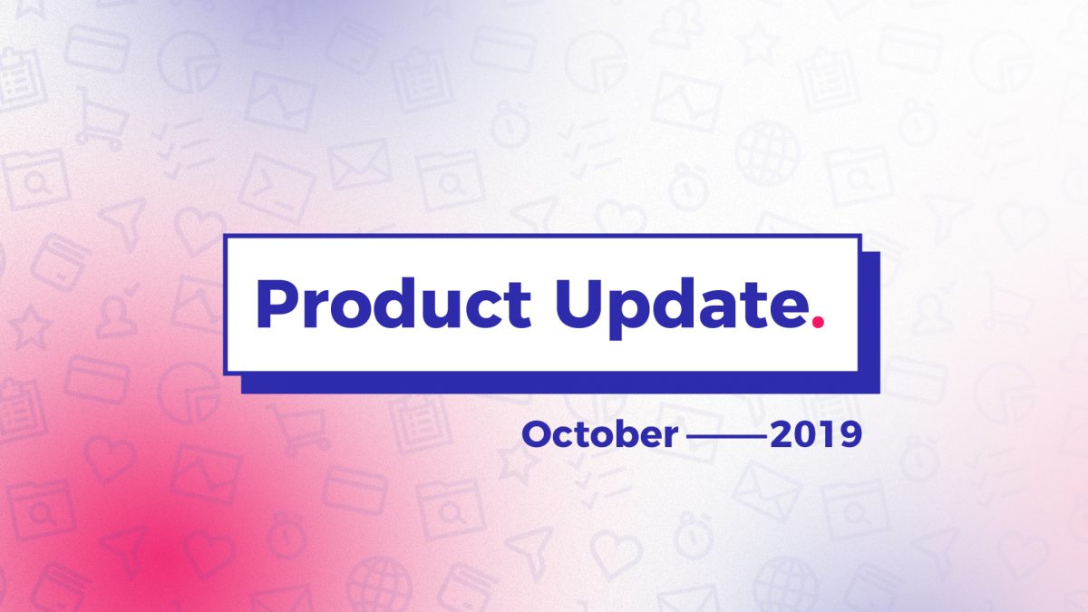 Product update october 2019 cover