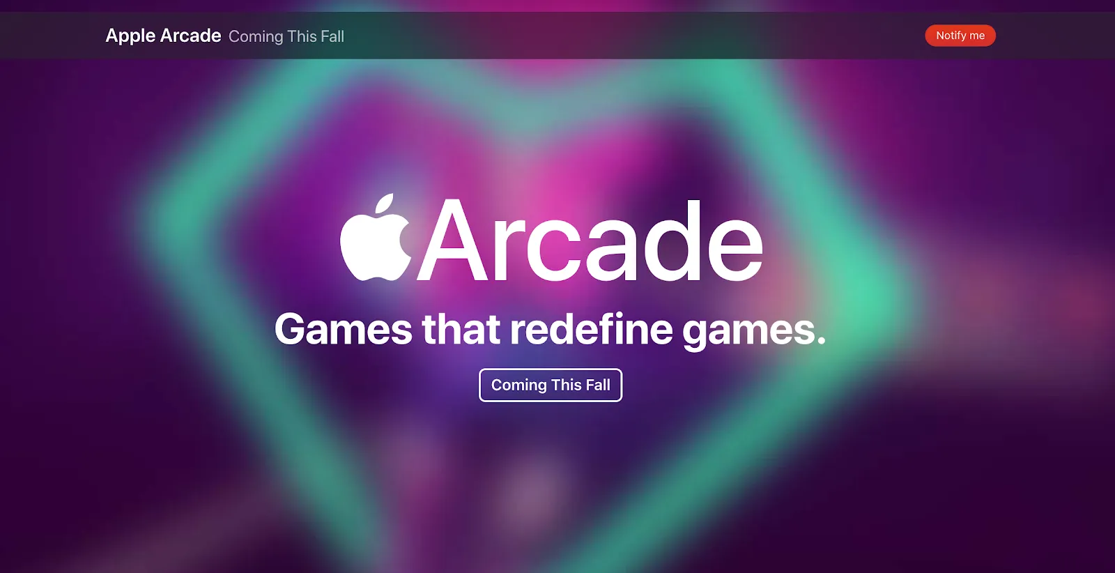apple arcade coming soon page