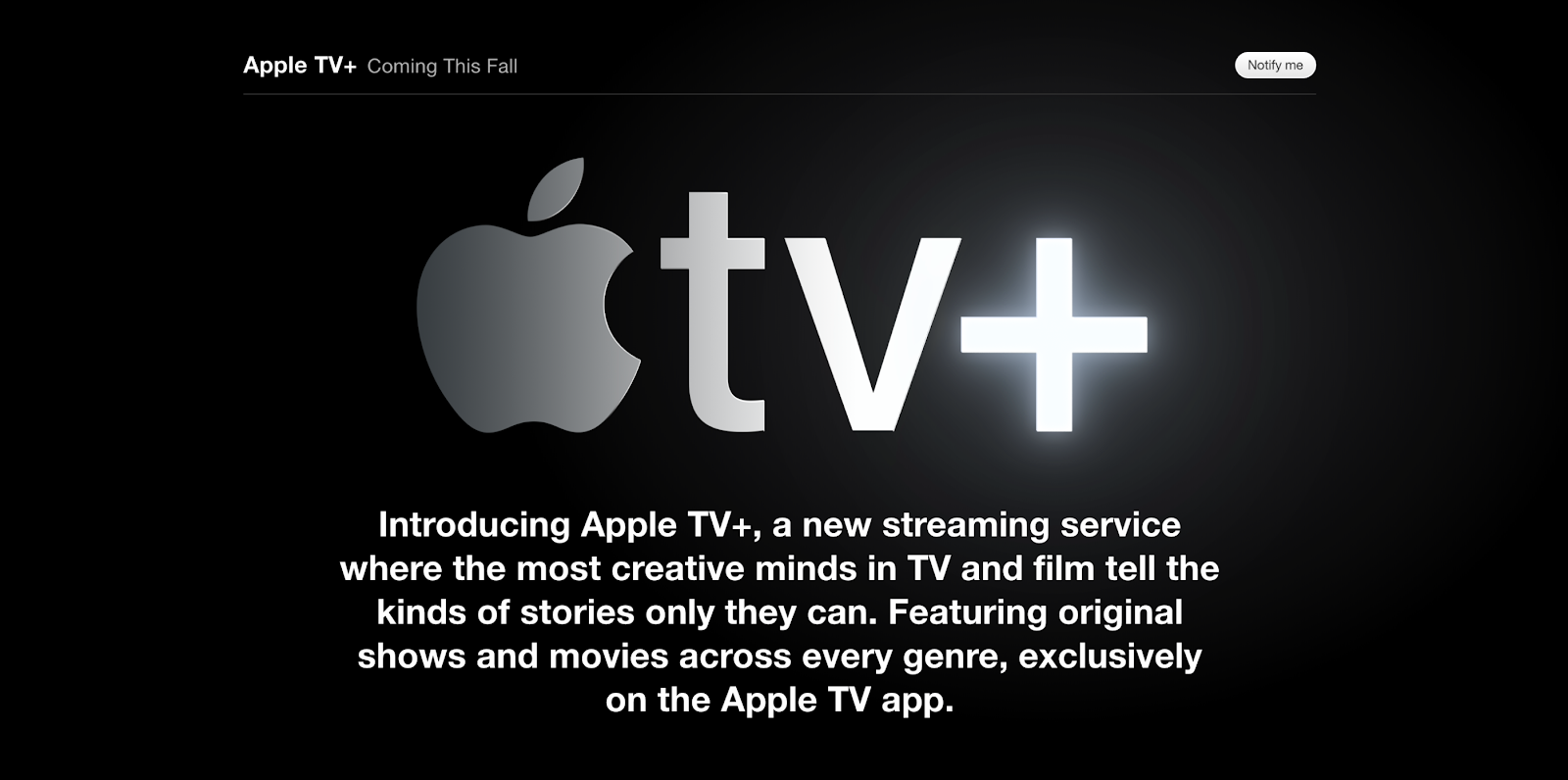 apple tv coming soon page