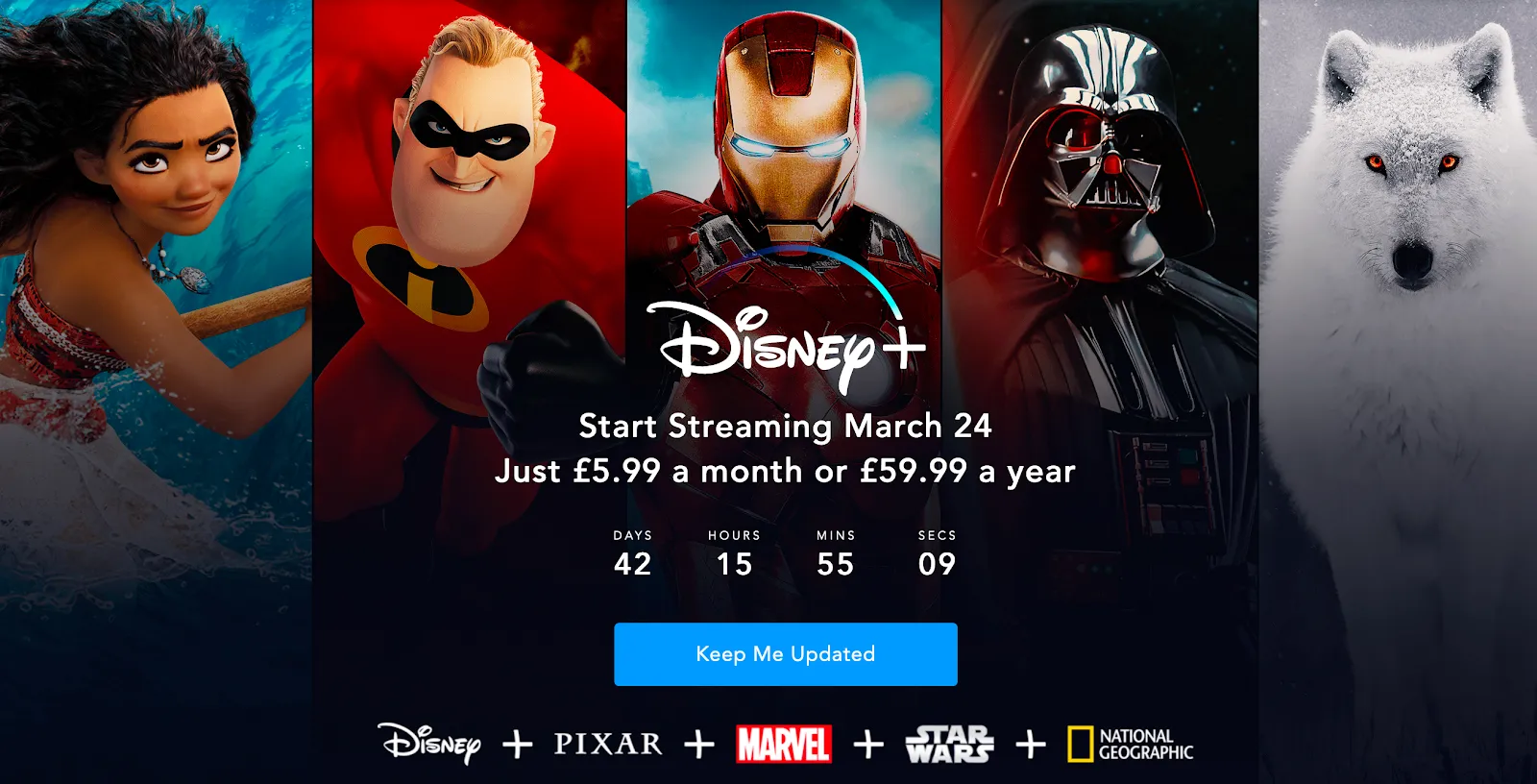 disney plus coming soon page
