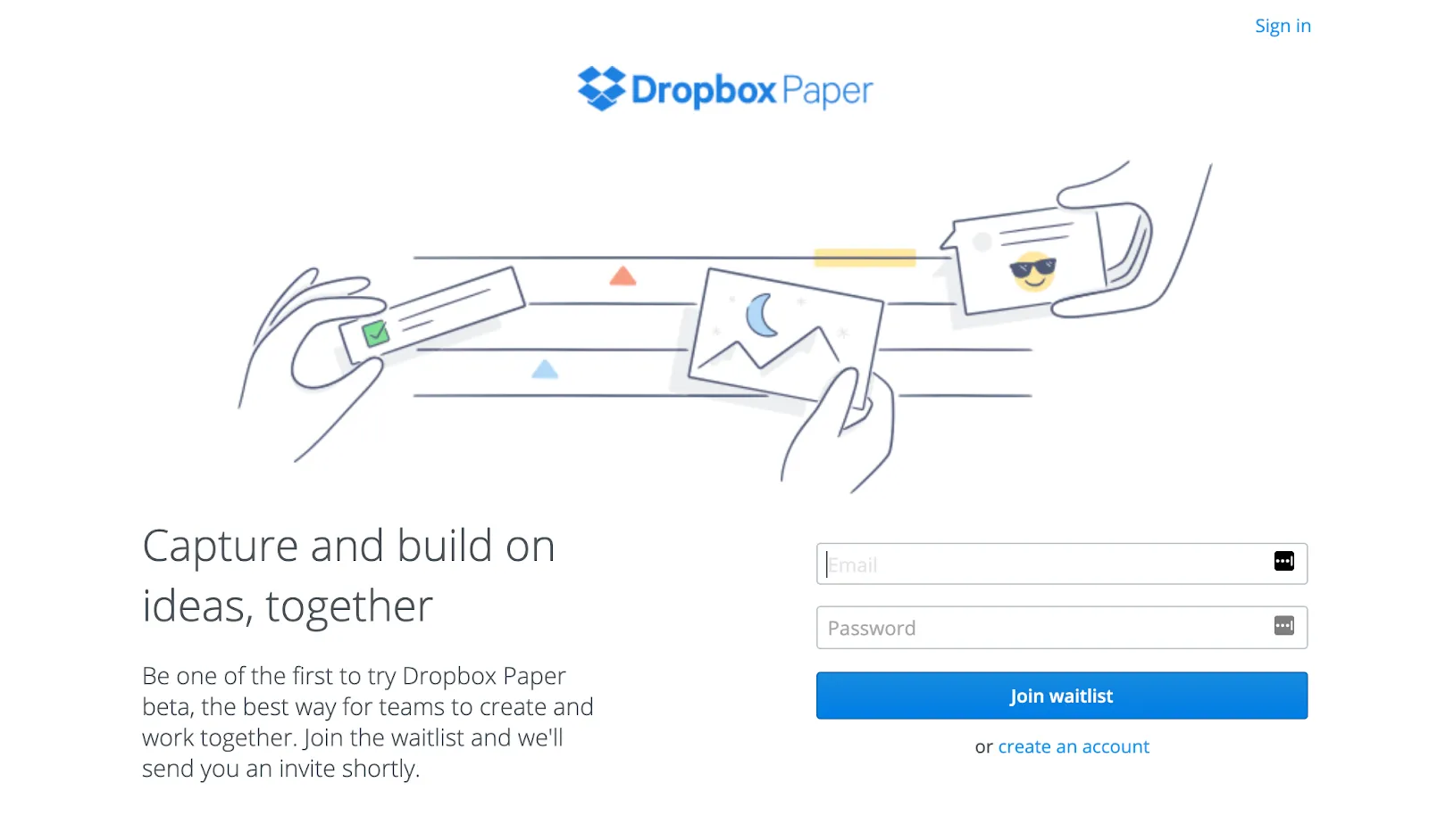 dropbox paper coming soon page