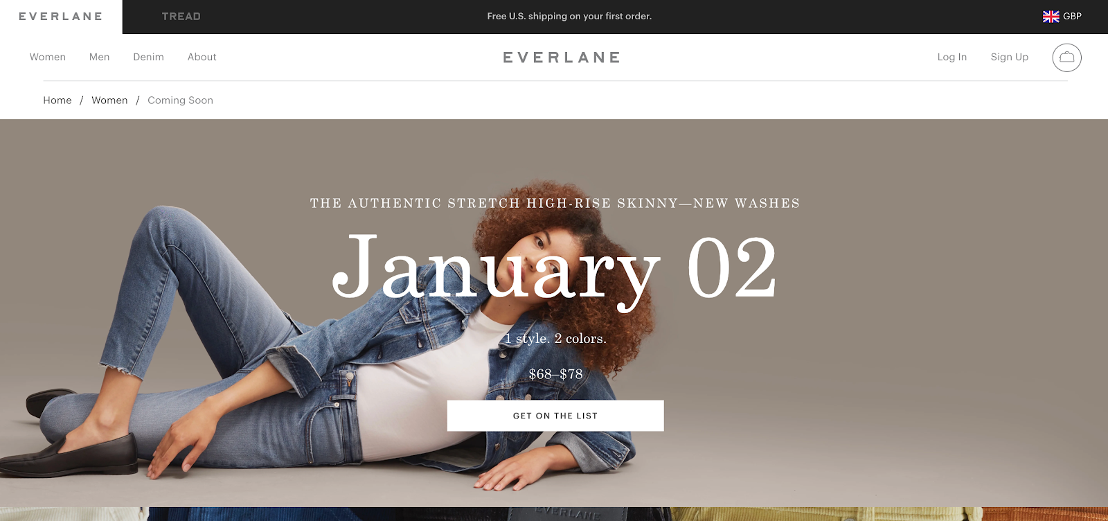 everlane coming soon page