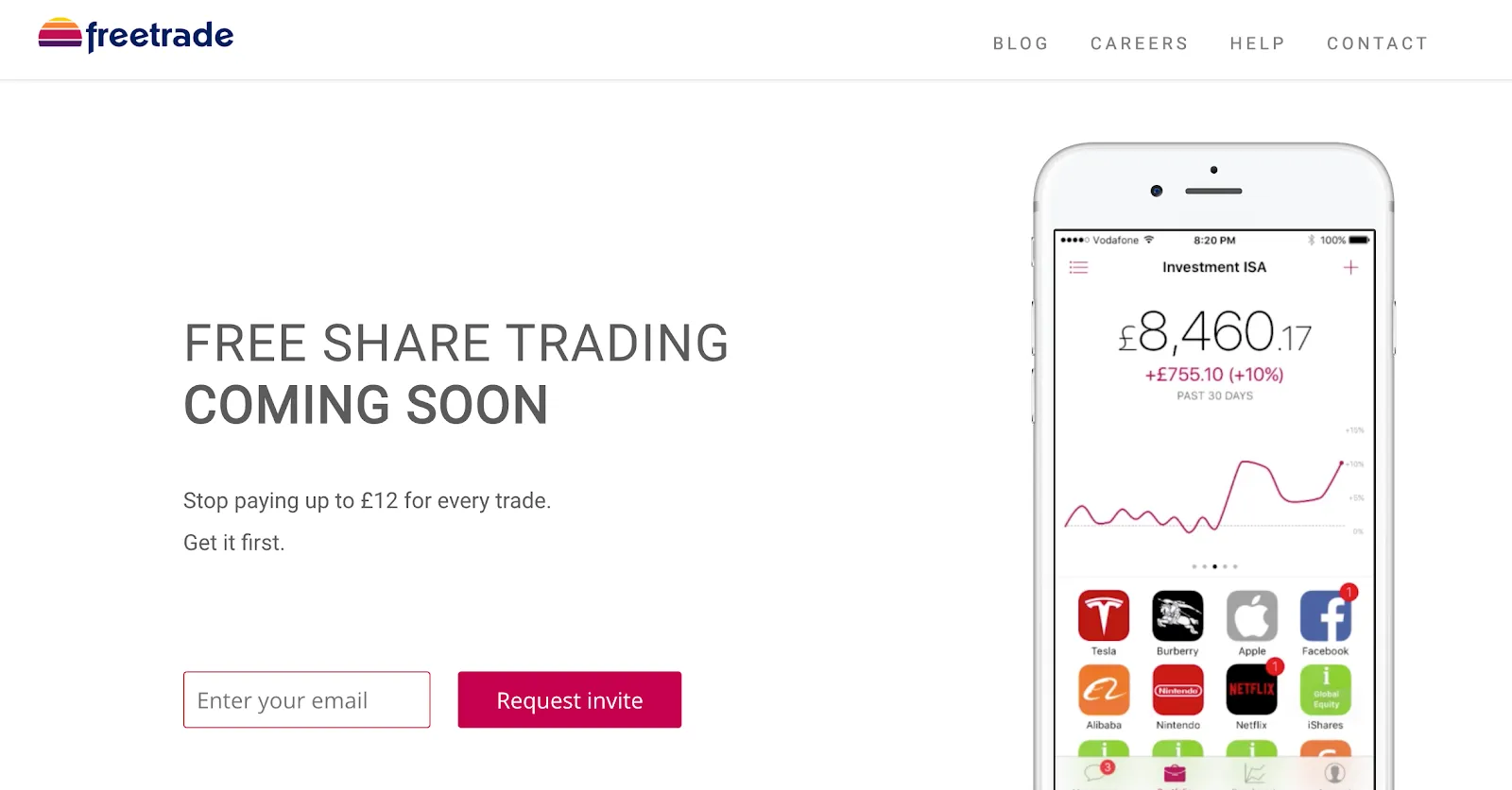 freetrade coming soon page