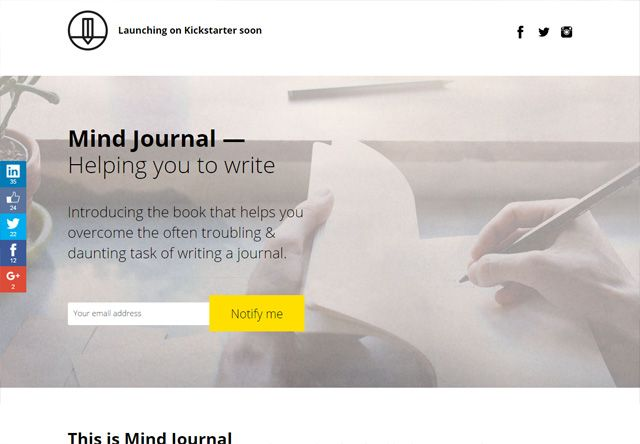 mindjournal coming soon page