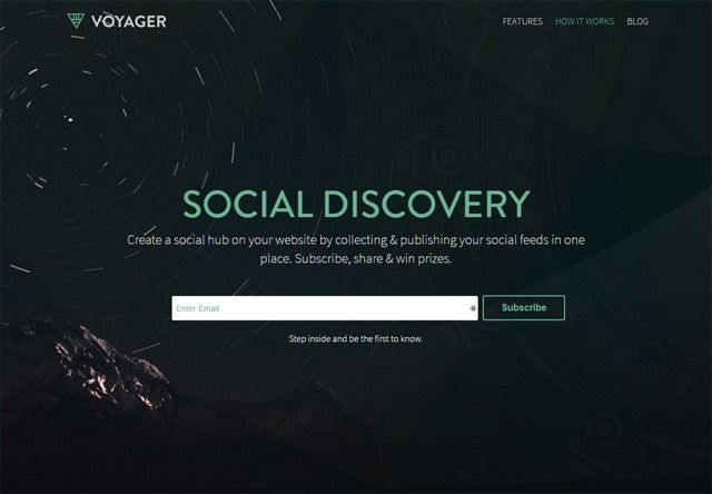 voyager coming soon page