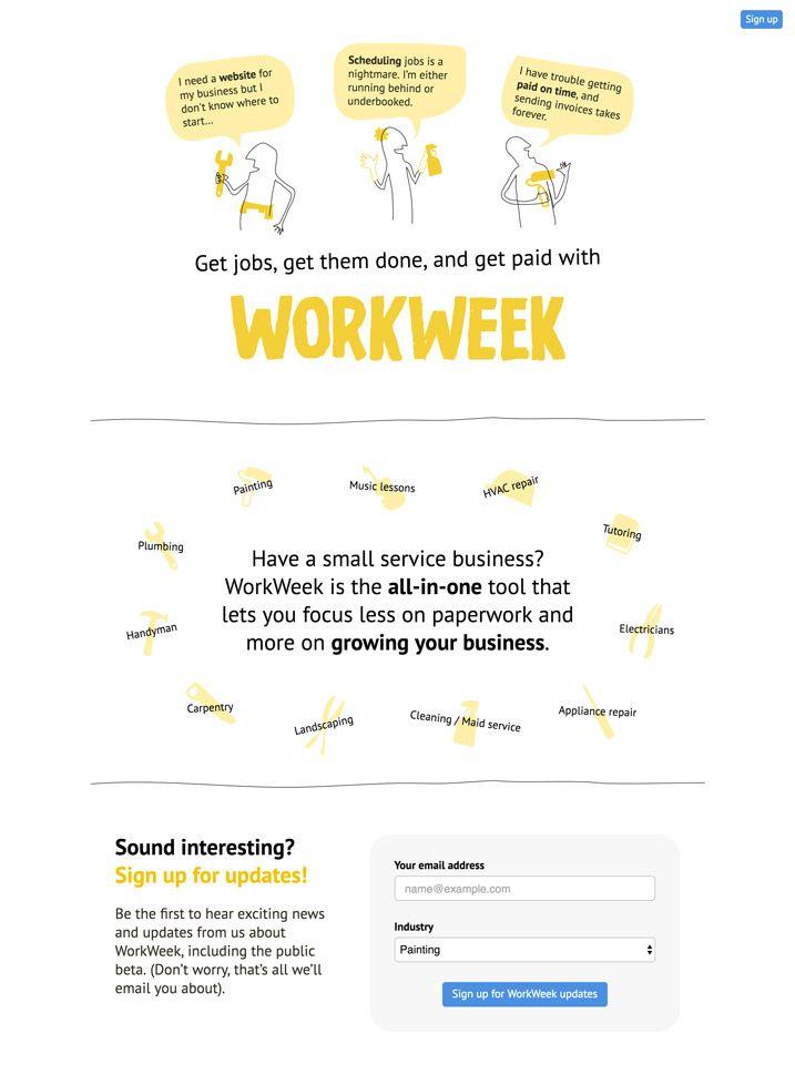 workweek coming soon page
