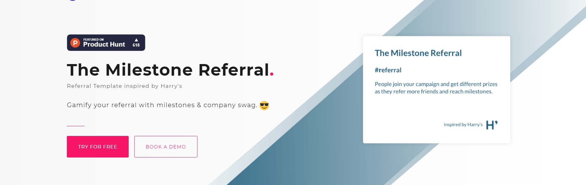 CTAs on the Milestone Referral Template page