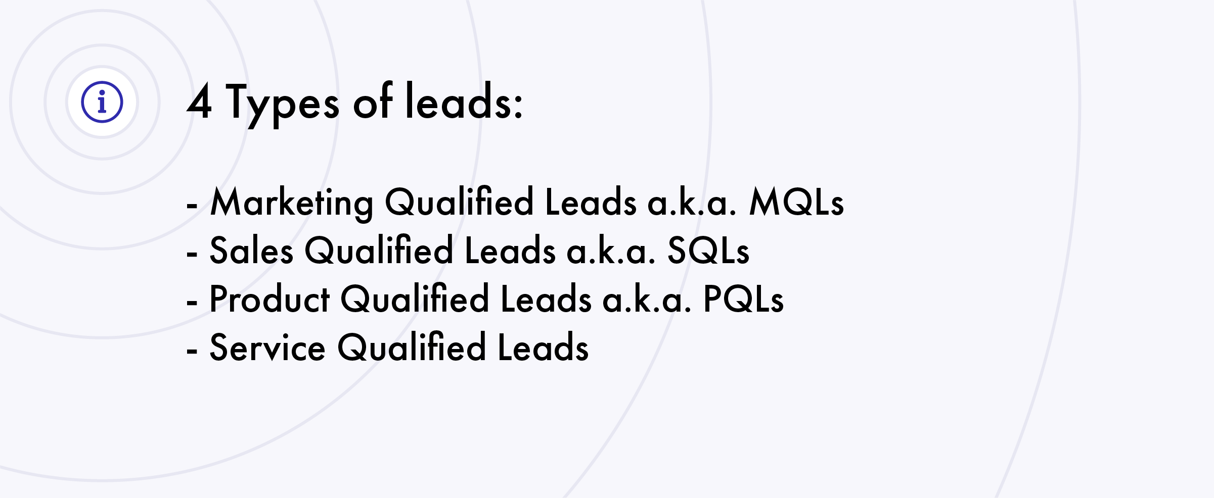 4 types of leads