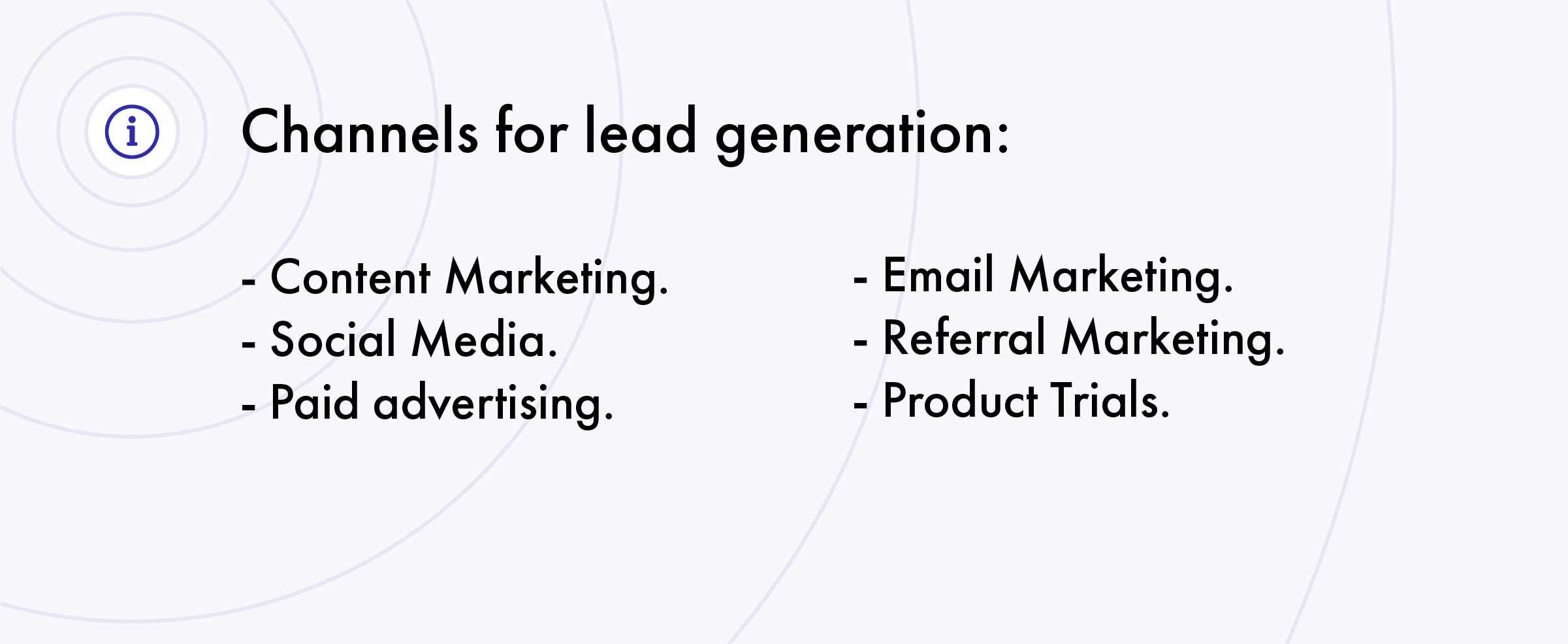 marketing channels for lead generation