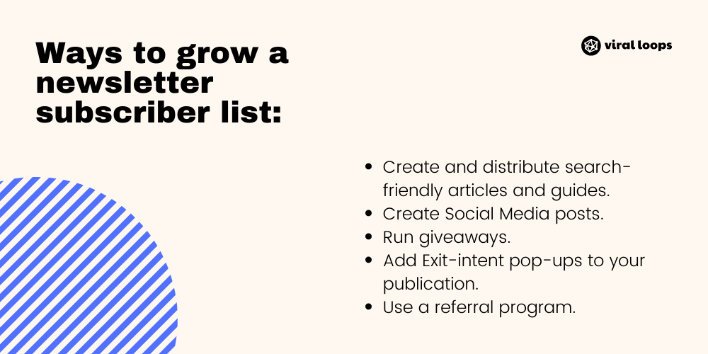 Ways to grow your newsletter subscriber list