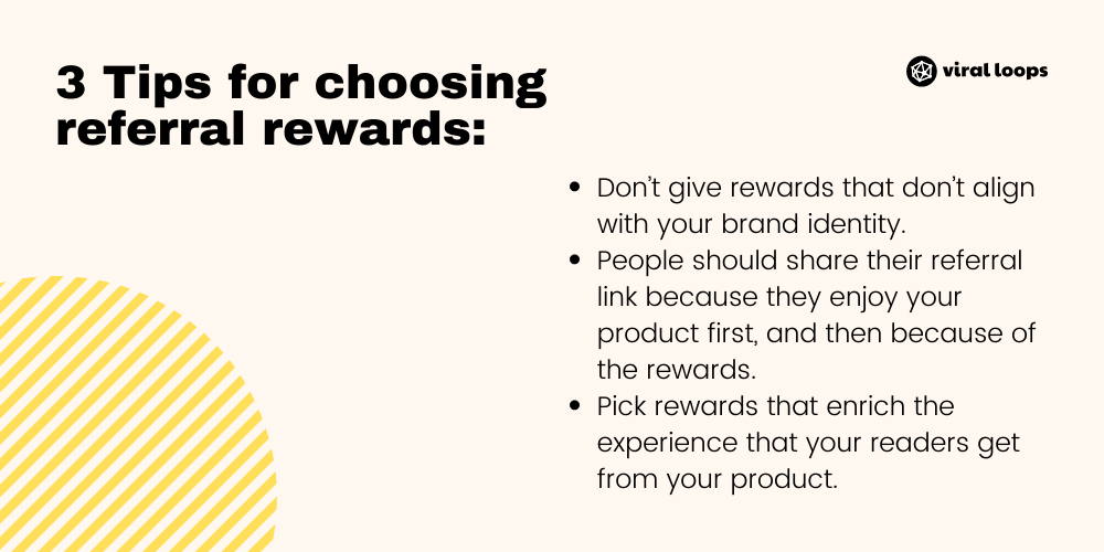 Tips for choosing referral rewards