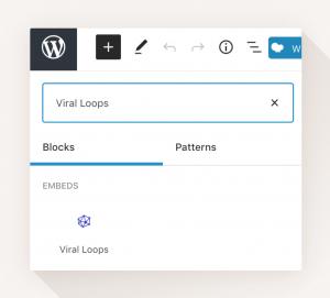 Viral Loops WordPress plugin