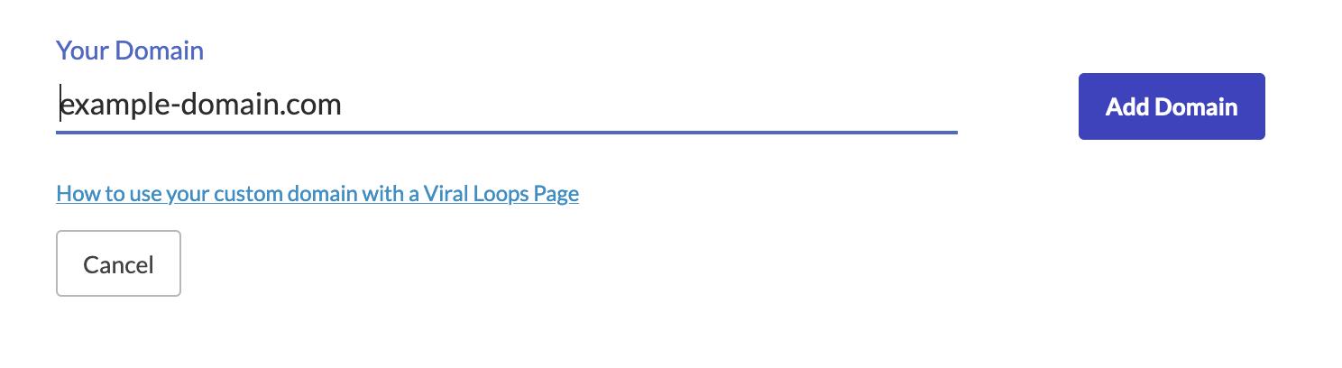 Viral Loops custom domain setup