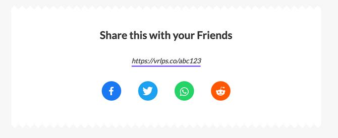 email referral widget