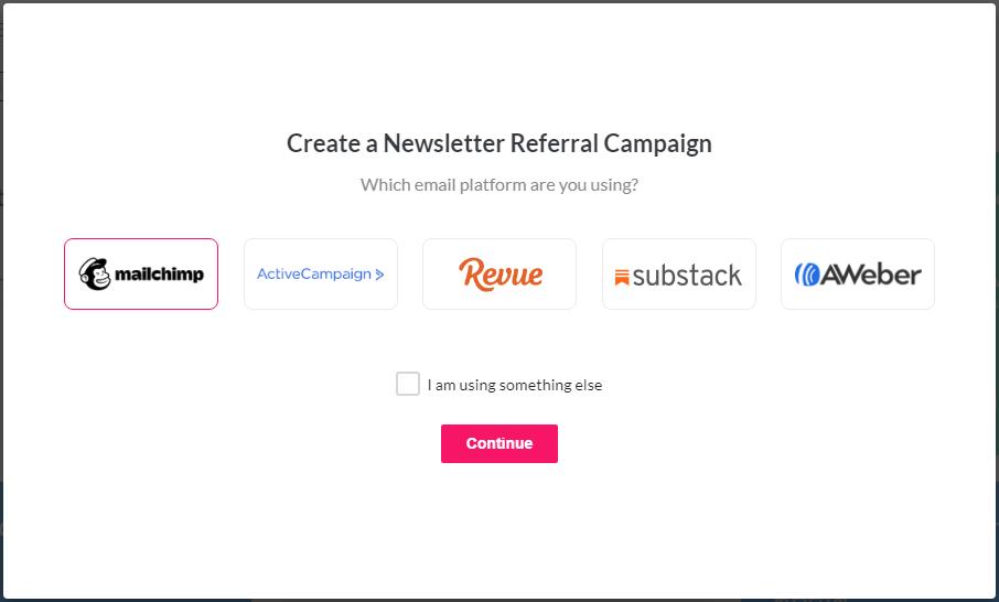 mailchimp-select email platform