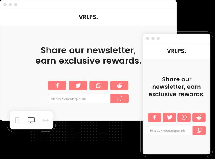 The Newsletter Referral sharing widget