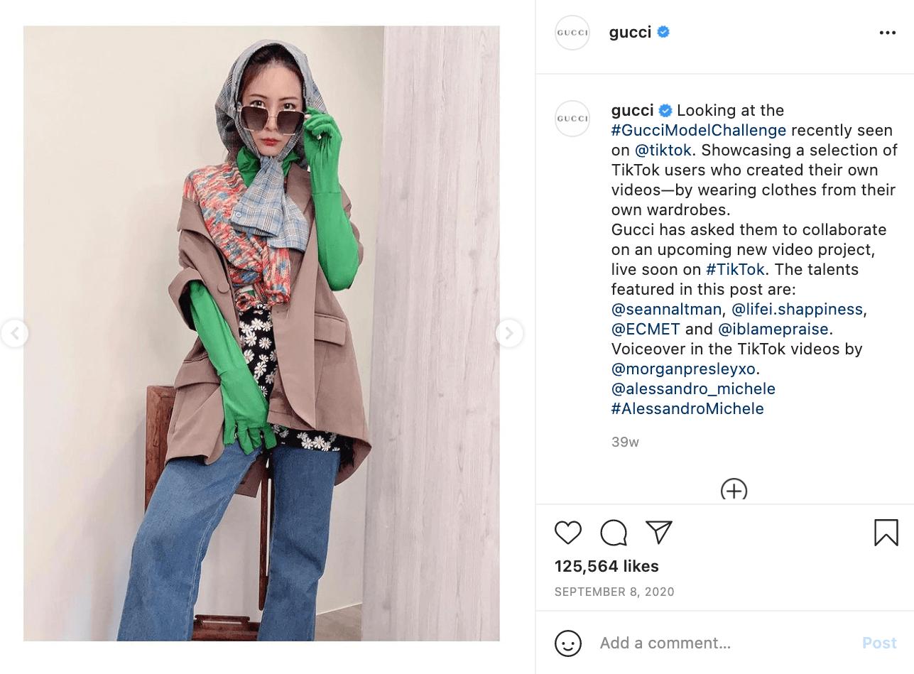 Gucci Instagram Post