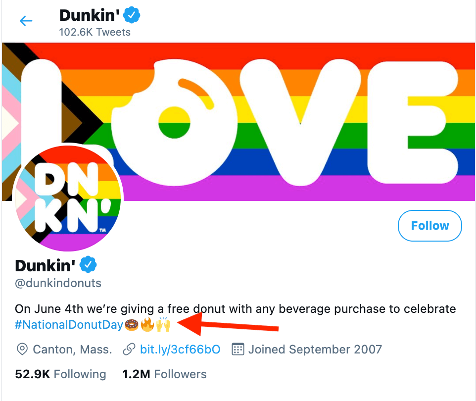 Twitter Dunkin Donuts