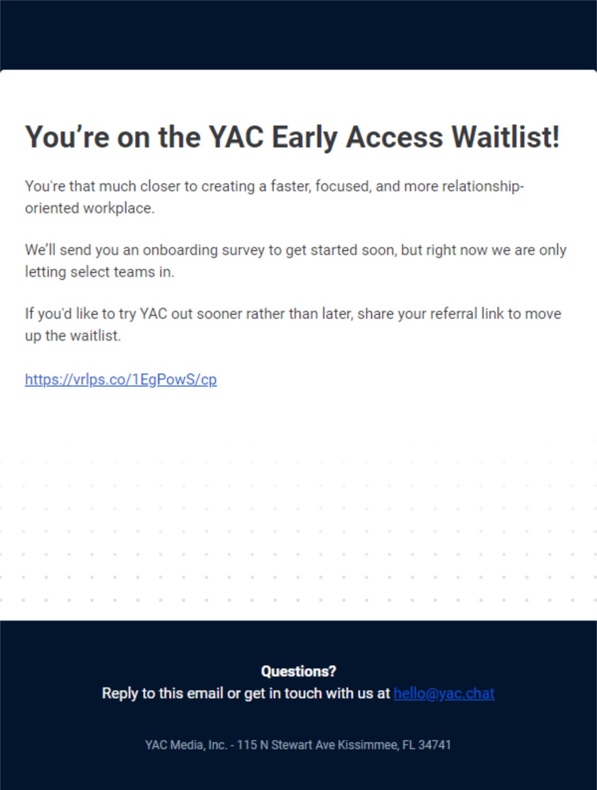 Yac Waiting List