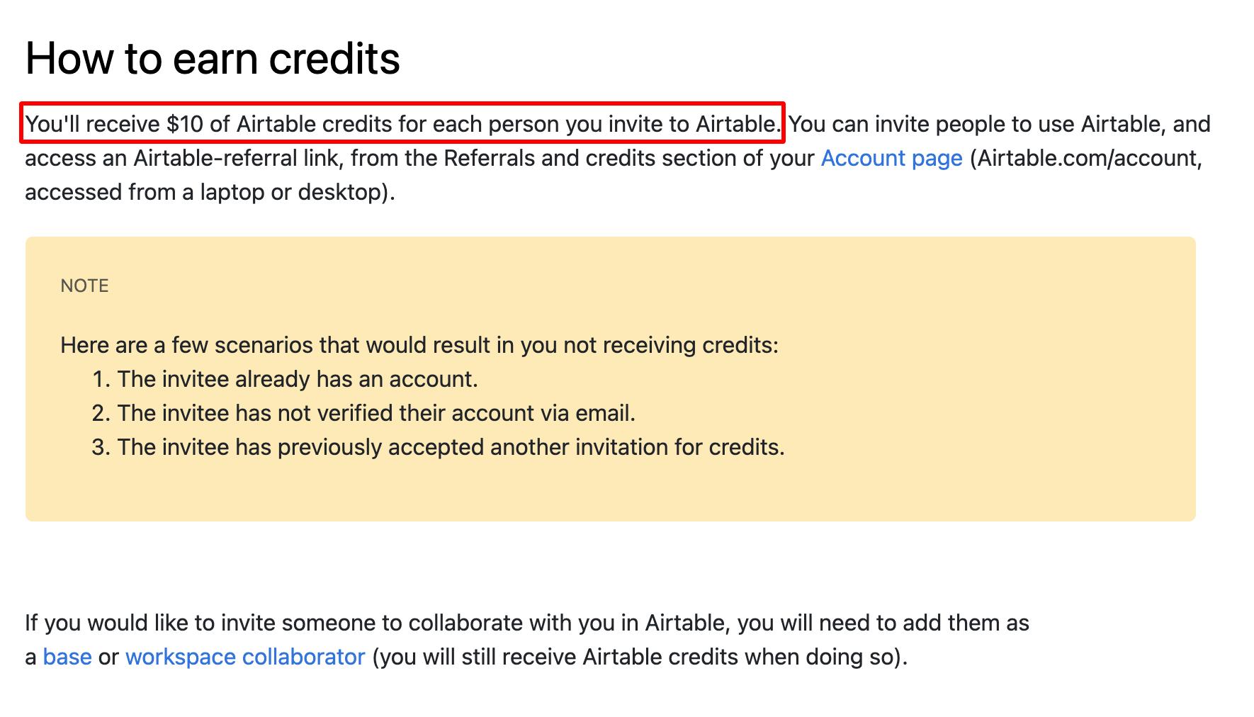 Airtable referral rewards