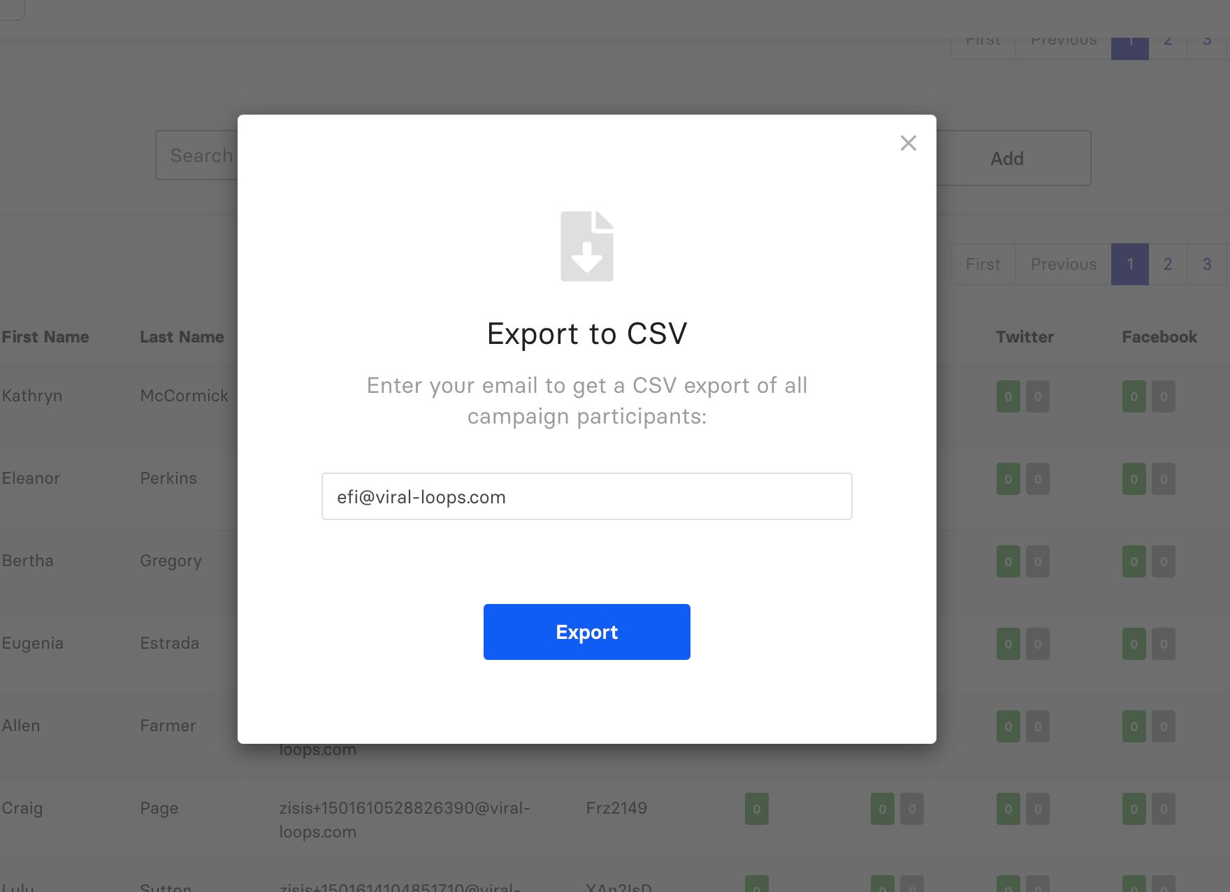 improved user export