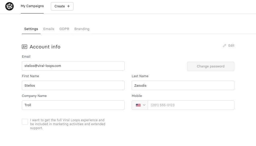 improved user settings