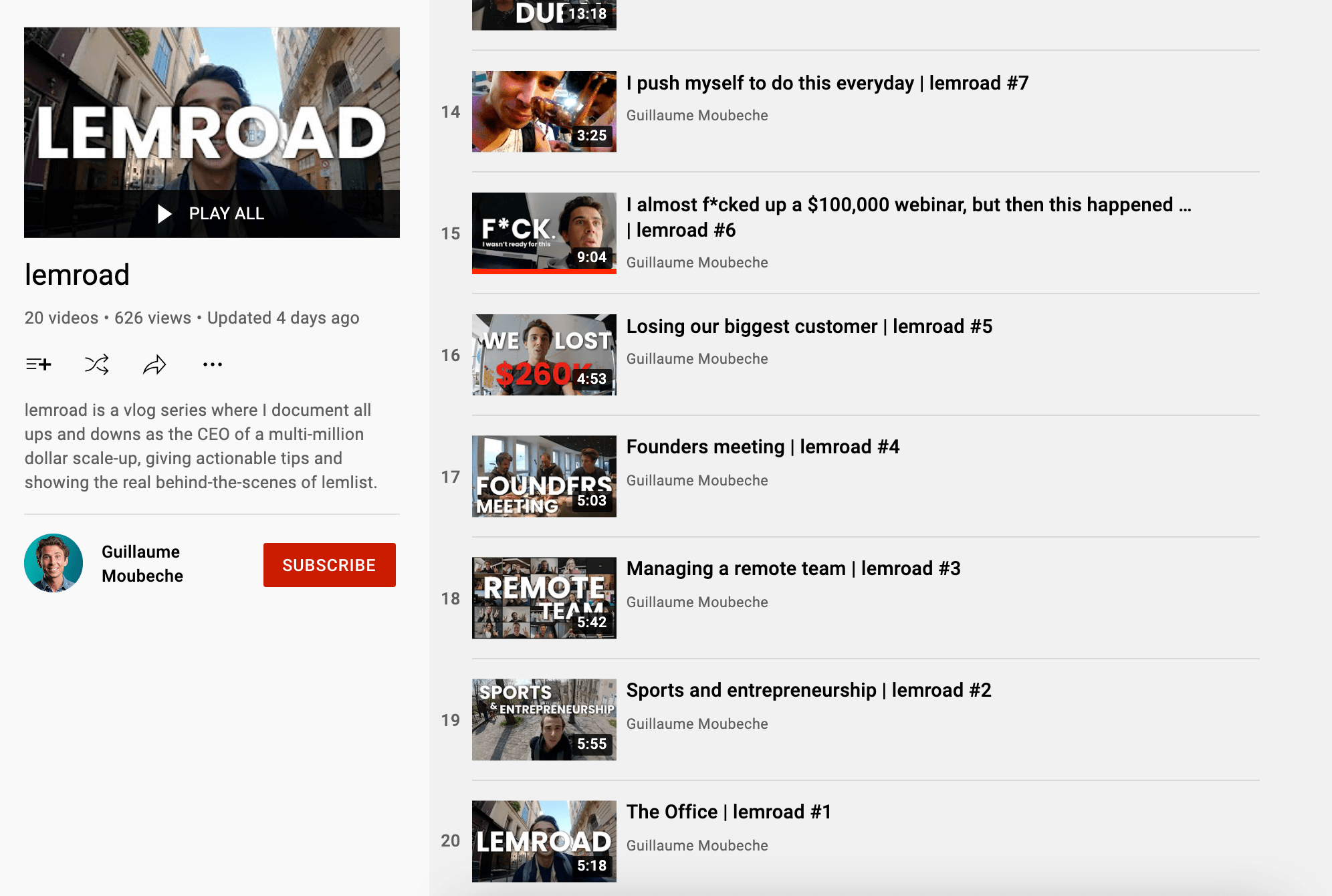 Lemlist Lemroad Youtube