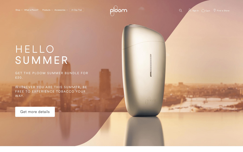 Ploom Homepage