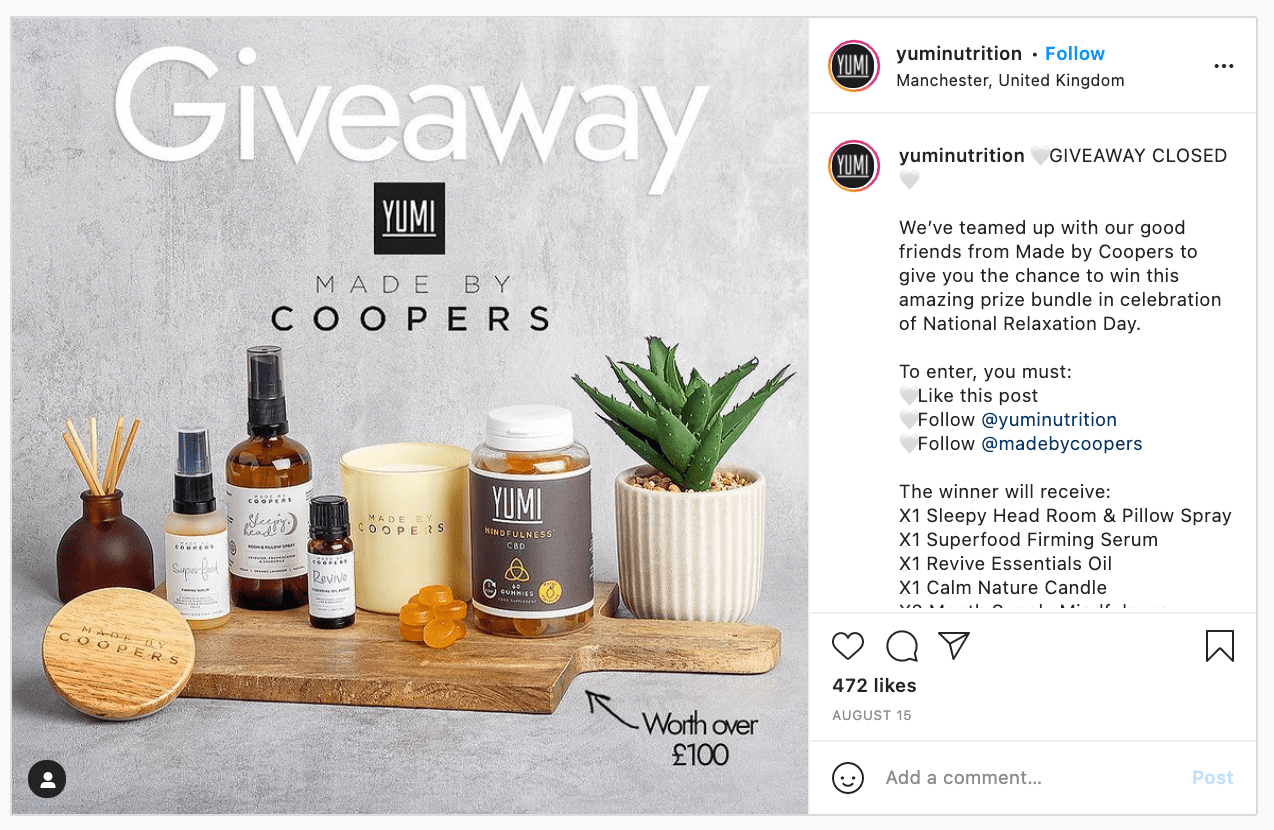 Yumi Nutrition Giveaway